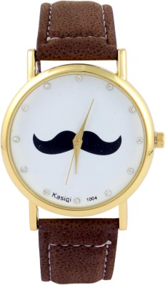 COSMIC Moustache Unisex Analog Wrist Watch- brown strap Analog Watch - For Men