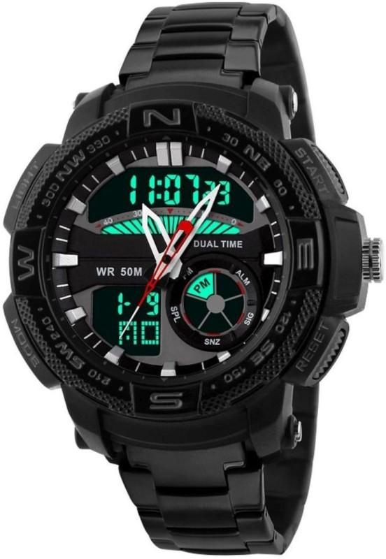 PredictWay 1121BLK SKMEI Analog Digital Watch For Men
