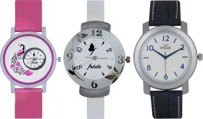 Frida Designer VOLGA Beautiful New Branded Type Watches Men and Women Combo634 VOLGA Band Analog Watch  - For Couple