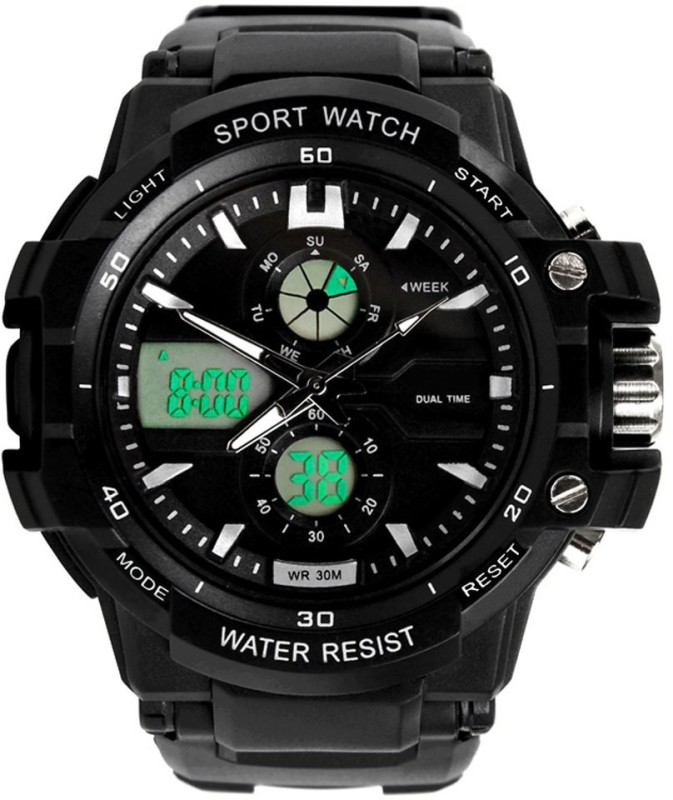 Abrexo S kmei 0990BLK Rugged Analog Digital Watch For Men