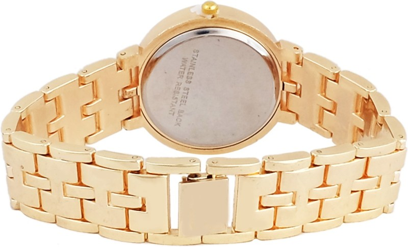 Super Drool SD0132WTGOLDBLACK Analog Watch For Women