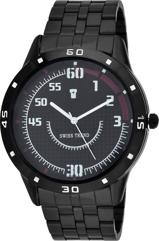 Swiss Trend ST2174 Black Robust Analog Watch For Men