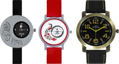 Frida Designer VOLGA Beautiful New Branded Type Watches Men and Women Combo360 VOLGA Band Analog Watch  - For Couple