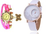 Mxre Pink-White-63 Analog Watch  - For W...
