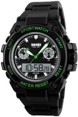 Skmei Gmarks-7121-Green Sports Analog-Digital Watch - For Men & Women