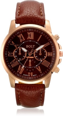 Bolt Smart Fashion Leather Analog Watch  - For Men