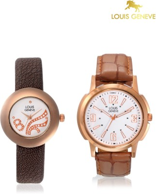 Louis Geneve LG-LMW-COMBO-105 Elegant & Fashionable Analog Watch  - For Couple