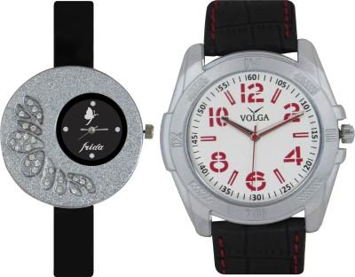 Frida Designer VOLGA Beautiful New Branded Type Watches Men and Women Combo23 VOLGA Band Analog Watch  - For Couple