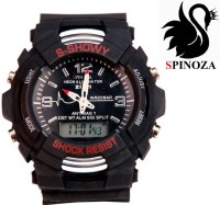 SPINOZA MTG S SHOCK sport black stylish Analog Digital Watch F