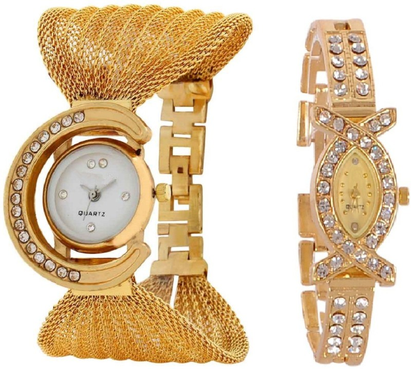 TRUE COLORS GLORY GOLDEN COMBO DEAL Analog Watch For Women
