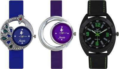 Frida Designer VOLGA Beautiful New Branded Type Watches Men and Women Combo456 VOLGA Band Analog Watch  - For Couple