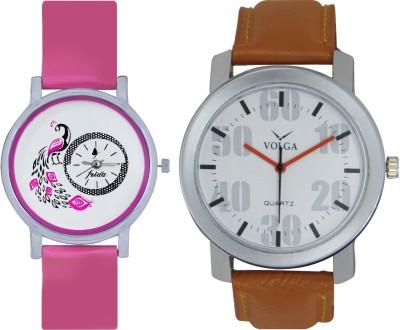 Frida Designer VOLGA Beautiful New Branded Type Watches Men and Women Combo95 VOLGA Band Analog Watch  - For Couple