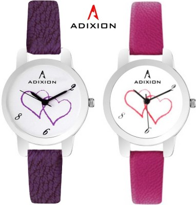ADIXION 9421SL2607 New Combo Leather Strep Watches Analog Watch  - For Girls