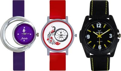 Frida Designer VOLGA Beautiful New Branded Type Watches Men and Women Combo677 VOLGA Band Analog Watch  - For Couple