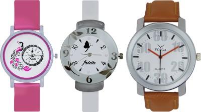 Frida Designer VOLGA Beautiful New Branded Type Watches Men and Women Combo650 VOLGA Band Analog Watch  - For Couple
