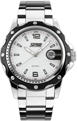 Skmei Gmarks-2990 -White dial Sports Analog Watch - For Men & Women