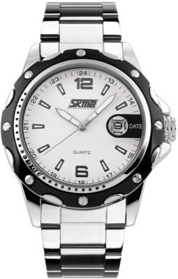 Skmei Gmarks-2990 -White dial Sports Analog Watch - For Men & Women