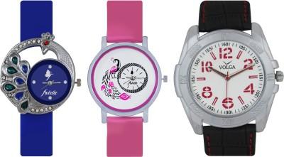 Frida Designer VOLGA Beautiful New Branded Type Watches Men and Women Combo430 VOLGA Band Analog Watch  - For Couple