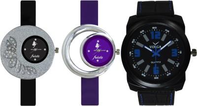 Frida Designer VOLGA Beautiful New Branded Type Watches Men and Women Combo322 VOLGA Band Analog Watch  - For Couple