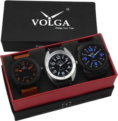 f0d491520 VOLGA VLW05 19 31 32 Mens Leather Belt Combo With Designer Stylish Analog  Watch For Men