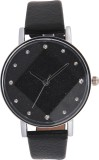 3WISH Black Dial Leather Strap Analog Wa...