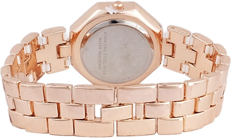 Super Drool SD0136WTGOLDWHITE Analog Watch For Women
