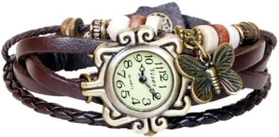 Quartz Vintage(Dark Brown) Analog Watch  - For Girls, Women