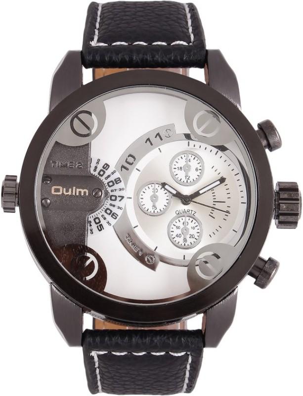 Oulm HP3130GUNWH Analog Digital Watch For Men