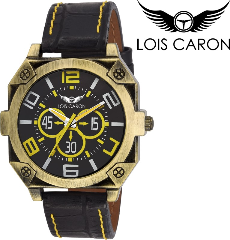 Lois Caron LCS 4142 BLACK Analog Watch For Men