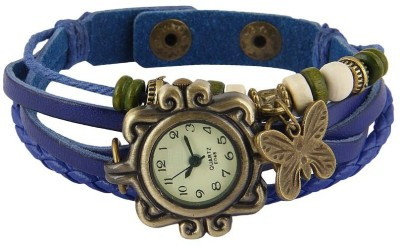Designculture dgcVINTAGE-Blue Vintage butterfly Analog Watch  - For Girls