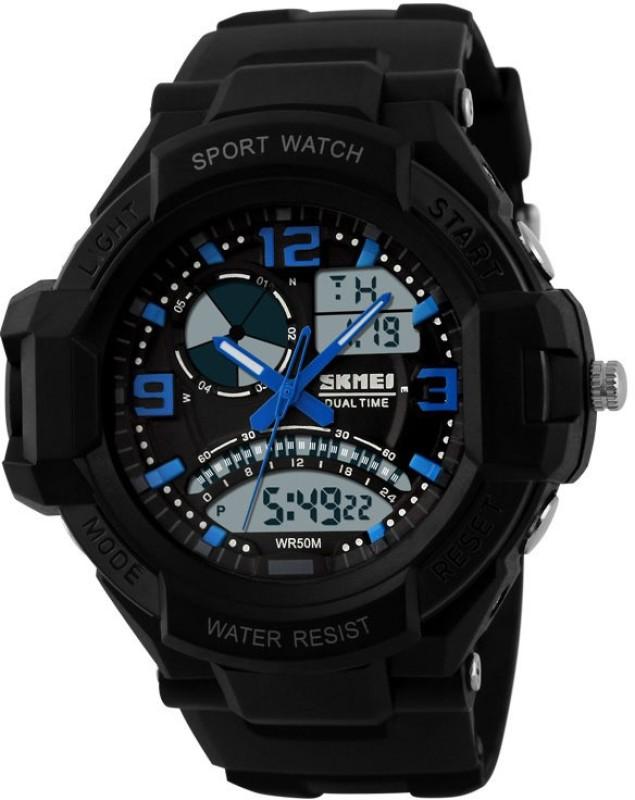 Skmei AD1017BLUE LCD Analog Digital Watch For Men
