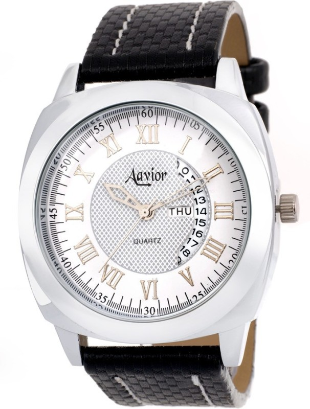 Aavior Fashion White AA194 Day and Date Analog Watch For Men