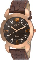Agile AGM105 Classique Brass Case slim strap Analog Watch For
