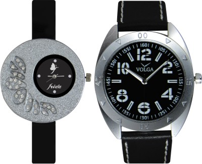 Frida Designer VOLGA Beautiful New Branded Type Watches Men and Women Combo25 VOLGA Band Analog Watch  - For Couple