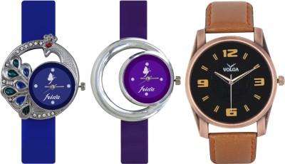 Frida Designer VOLGA Beautiful New Branded Type Watches Men and Women Combo460 VOLGA Band Analog Watch  - For Couple
