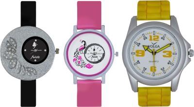 Frida Designer VOLGA New Branded Type Watches Men and Women Combo263 VOLGA Frida Couple Analog Watch  - For Couple