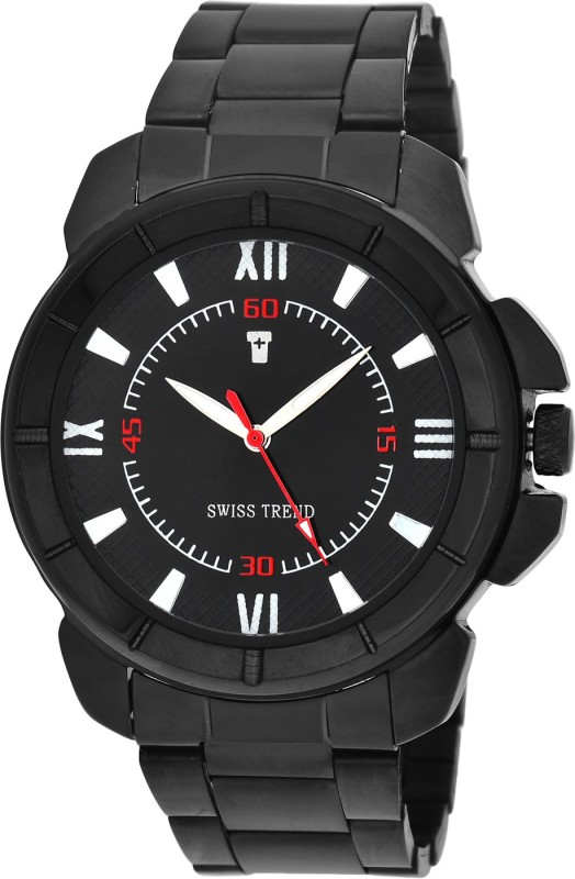 Swiss Trend ST2201 Black Rigid Analog Watch For Men