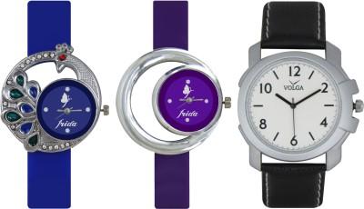 Frida Designer VOLGA Beautiful New Branded Type Watches Men and Women Combo450 VOLGA Band Analog Watch  - For Couple