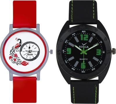 Frida Designer VOLGA Beautiful New Branded Type Watches Men and Women Combo160 VOLGA Band Analog Watch  - For Couple