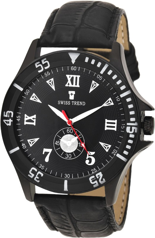 Swiss Trend ST2209 Black Elegant Analog Watch For Men