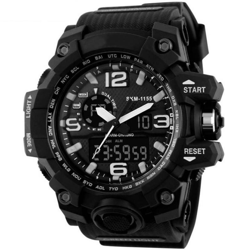 Abrexo AD1155BLK ANADIG Analog Digital Watch For Men