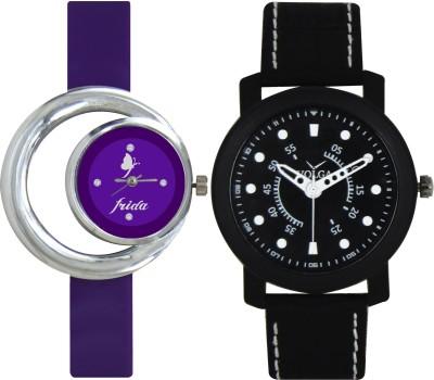 Frida Designer VOLGA Beautiful New Branded Type Watches Men and Women Combo120 VOLGA Band Analog Watch  - For Couple
