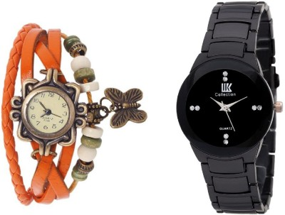 IIK Collection Orange-Black Analog Watch - For Women