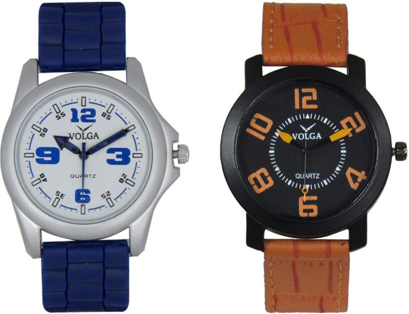 VOLGA Branded Leather Quality Designer Dial Diwali Special Combo4