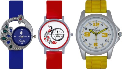 Frida Designer VOLGA Beautiful New Branded Type Watches Men and Women Combo485 VOLGA Band Analog Watch  - For Couple