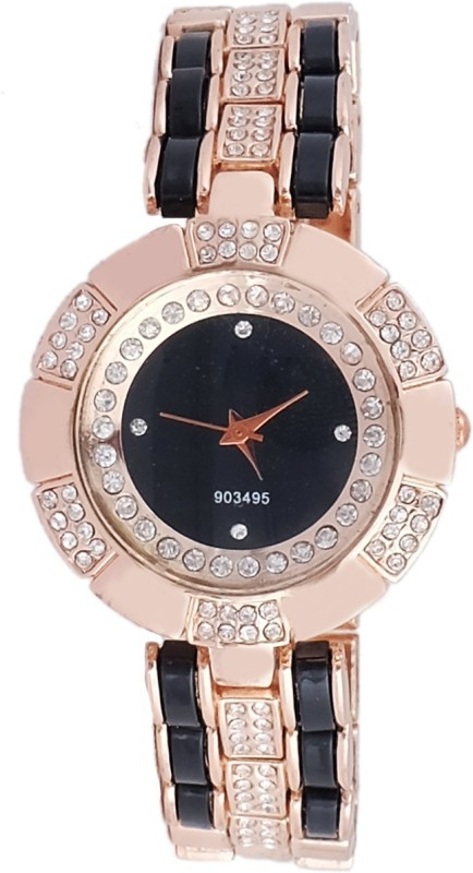 Super Drool SD0133WTROSEGOLDBLACK Analog Watch For Women