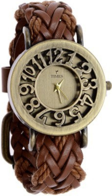 Times TIMES-500 Classic Vintage Hollow Wooven Leather Watch Analog Watch  - For Girls, Women