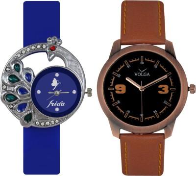 Frida Designer VOLGA Beautiful New Branded Type Watches Men and Women Combo52 VOLGA Band Analog Watch  - For Couple