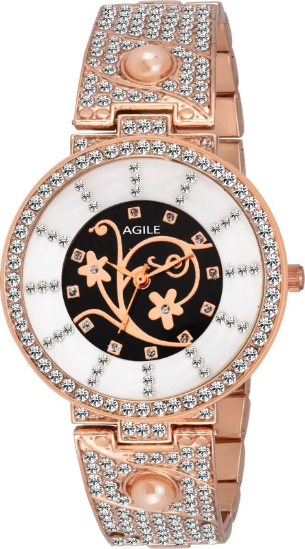 Agile AG290 Classique Designer Crystal studded Analog Watch Fo