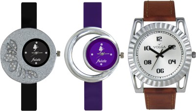 VOLGA Designer FVOLGA Beautiful New Branded Type Watches Men and Women Combo92 VOLGA Band Analog Watch  - For Couple